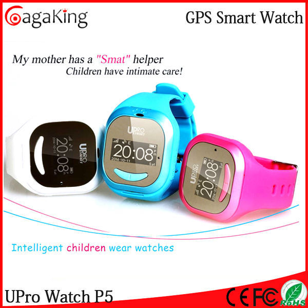 Free shipping Child GPS watch Upro P5 GPS SOS Help GPS,LSB,WIFI position for kids Anti-lost Phone watch android gps wifi(China (Mainland))