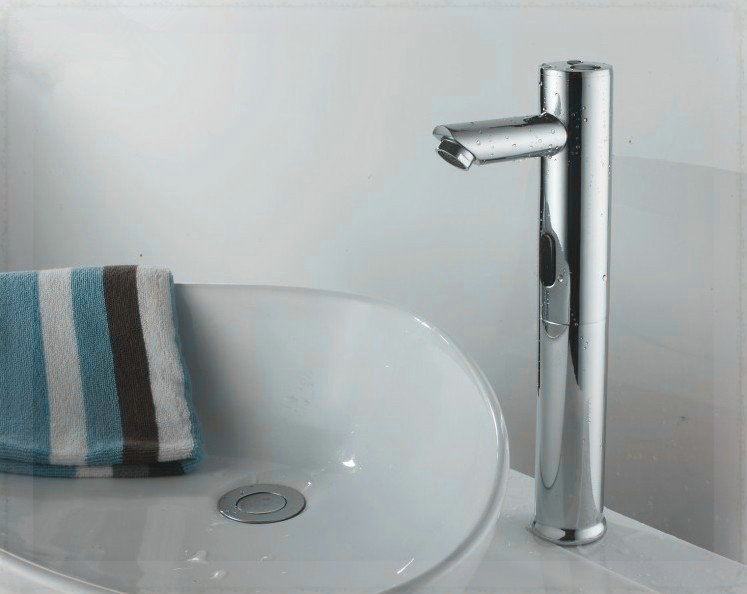 Free Shipping None Handle Chrome Basin Mixer Tap Bathroom Touchless Automatic Sensor Faucet