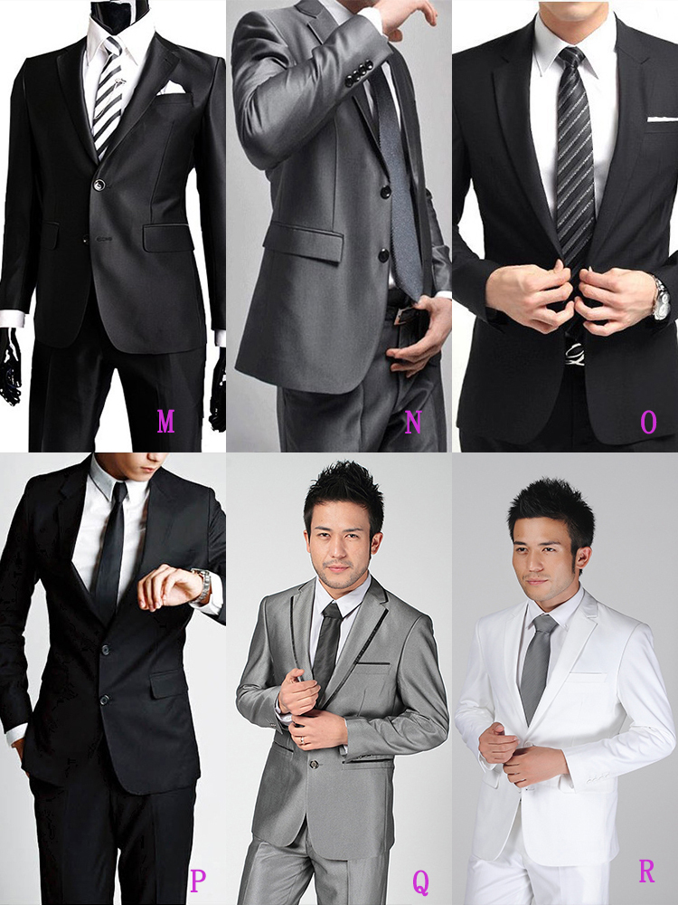 9-Free Shipping New 2015 man suit classic Fashion grooms man suits! Men's Blazer Business Slim Clothing Suit And Pants