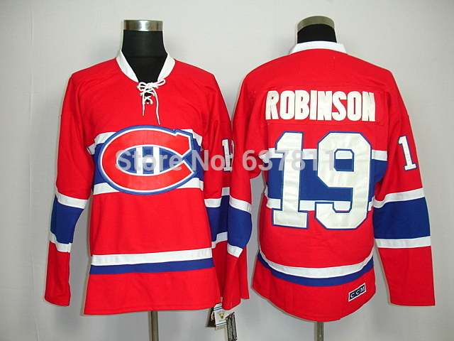 High Quality Authentic Montreal Canadiens Vintage Hockey Jerseys #19 Larry Robinson Jersey Throwback CCM Home Red Larry Robinson(China (Mainland))