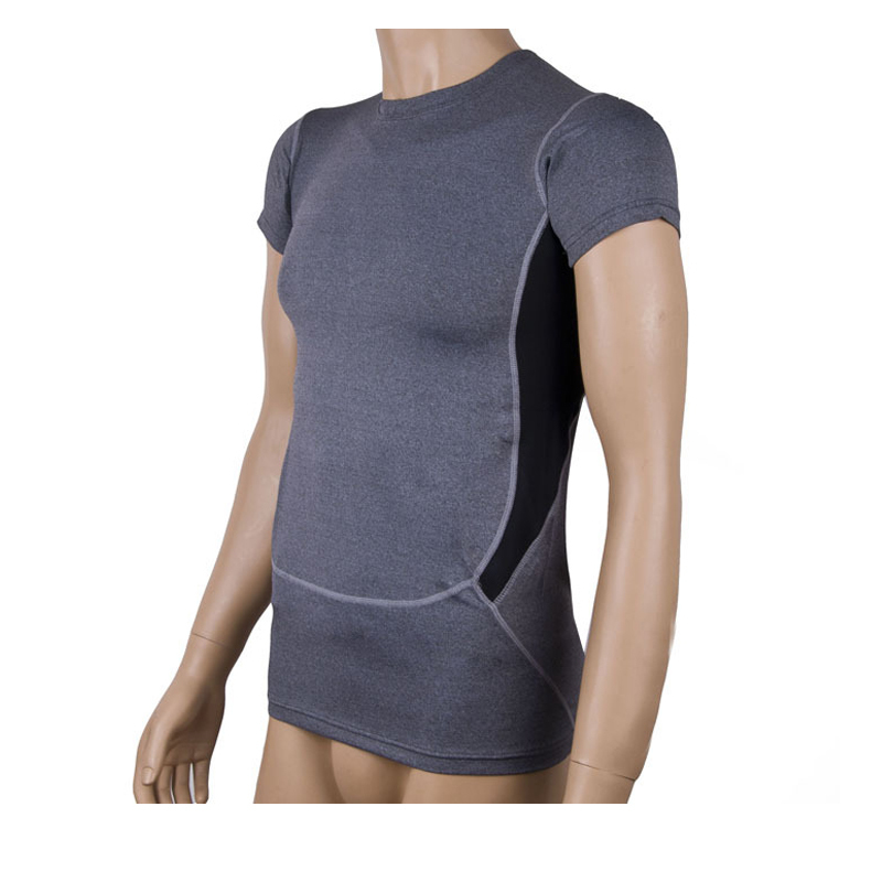 Sport t shirt mens compression tights base layer tops tee for Compression tee shirts for men