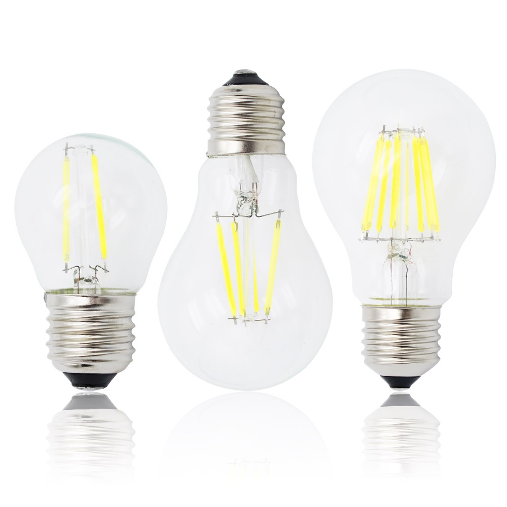 E27 Lamp A60 LED Filament Dimmable 4W 8W 12W 16W G45 Retro Glass Edison 220V Bulb Replace Incandescent Light Chandeliers(China (Mainland))