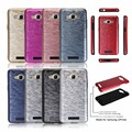 For Samsung Galaxy J2 prime New Fashion 2 In 1 Imitation Metal Wire Drawing back cover