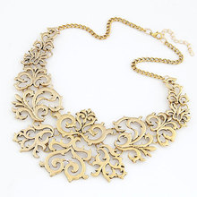 Min.$10(mix items) Free Shipping Fashion Retro Vintage Gold Plated Flower False Collar Short Necklaces & Pendants for women