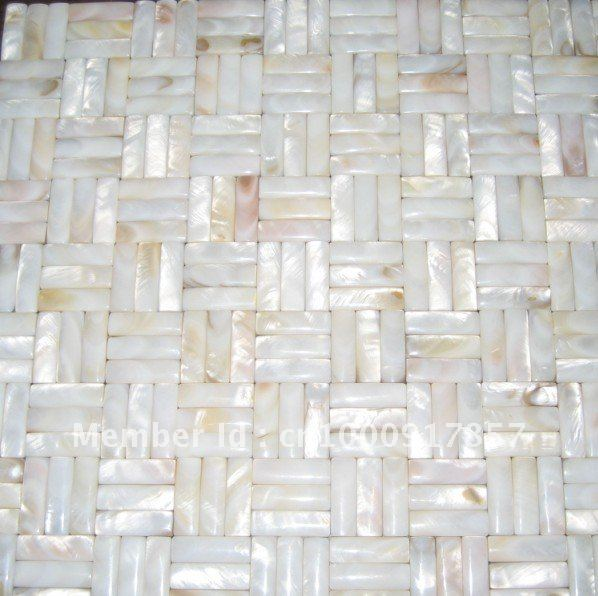 Shell Mosaic Wall Tiles In Nature White Suitable For Bathrooms Kitchens And Swimming Pools