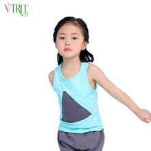NEW fashion boys girls tank tops triangular patch kids underwear model baby camisole girls undershirt children singlets