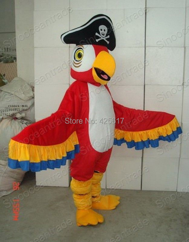 Factory direct!New CLASSIC PARROT PARAKEET W PIRATE HAT Cartoon Fancy Dress Suit Outfit Animal Mascot Costume - Sam's World store
