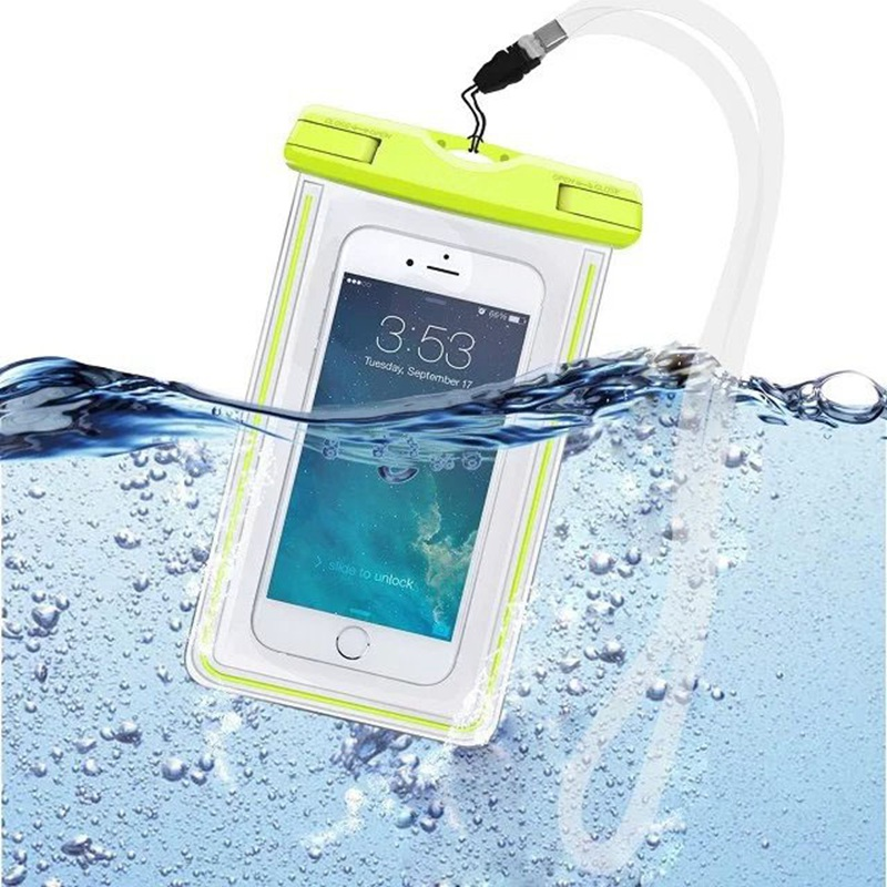 Waterproof Bag With Luminous Underwater Pouch Phone Case For iphone 5 5S SE 6 6s Plus For Samsung Galaxy S6 S7 edge Note 5 7(China (Mainland))