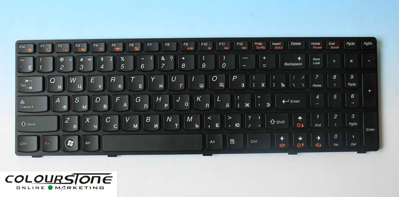 Laptop keyboards For IBM for LENOVO Z570 B570 RUSSIAN (RU)Black with black frame keyboard V117020FS1-RU(China (Mainland))