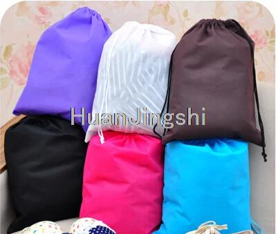 Hot Seal Thick Non-Woven Fabric Storage Bags Convinent Square Big Capacity Portable Travel Bags Shoe Bags Free Shipping(China (Mainland))