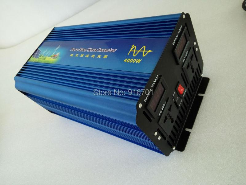 DHL Or Fedex free shipping 4000W Inverter Pure Sine Wave Inverter 8000W Peak Power CE,ROHS 4000W de onda senoidal pura Inversor(China (Mainland))