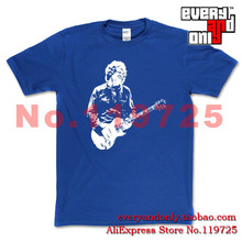 High Quality Gary Moore Blues rock Cotton Casual Print T-shirt Tee Hard Rock Cloth Jazz Ireland(China (Mainland))