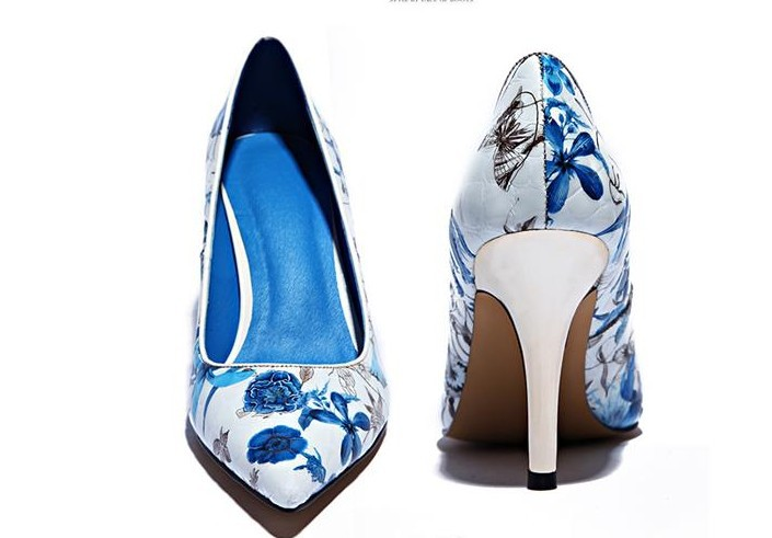 blue and white heels fs heel