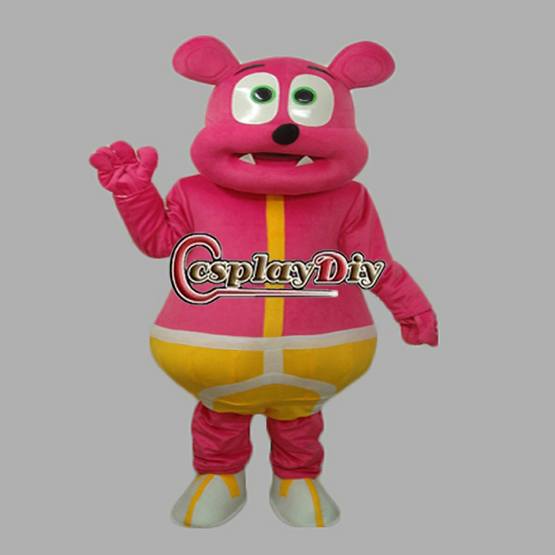 Hot Sale New Arrival Rose Red Bear Monster Plush Adult Animal Mascot Costume for Christmas(China (Mainland))