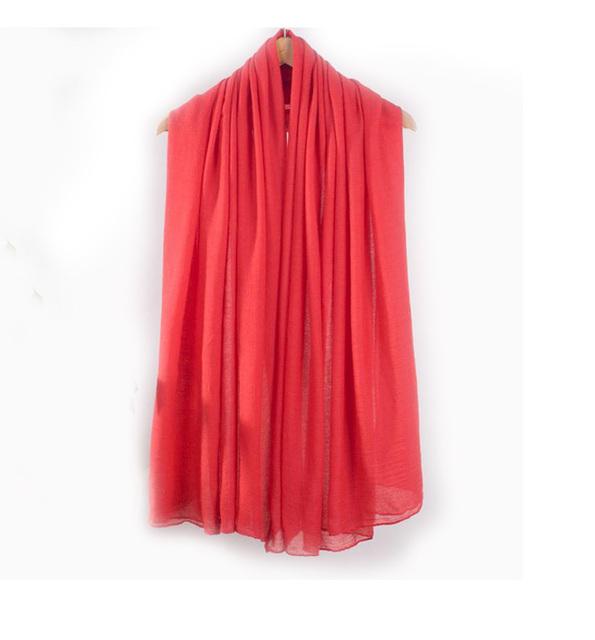Горячая распродажа красный леди шарфы платки женщин сплошной цвет хиджаб мыс стильное ...