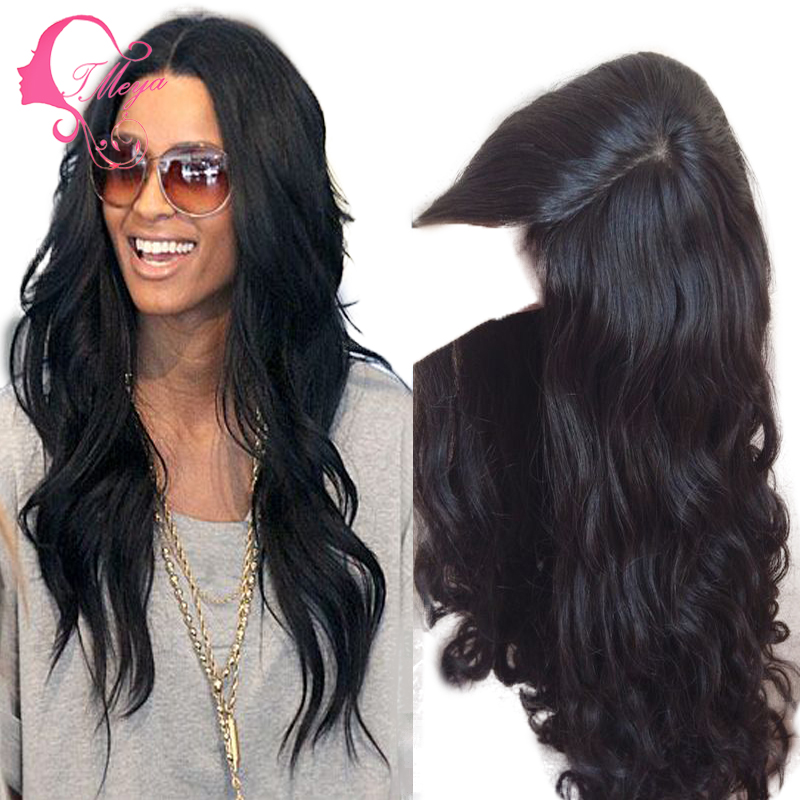 100% Unprocessed Indian Virgin Hair Lace Front Wig &Glueless Full Lace Wig with Natural Hairline Human Hair Wigs for black women(China (Mainland))