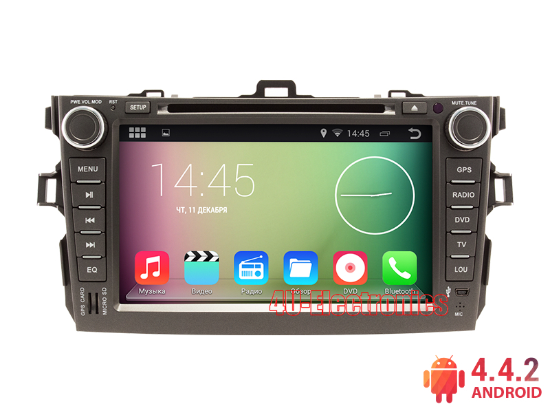 Android Car PC for Toyota Corolla 2008-2011 with 8 inch 1024*600 Screen DVD Bluetooth Radio RDS Wifi 3G host Free 8GB Map Card(China (Mainland))