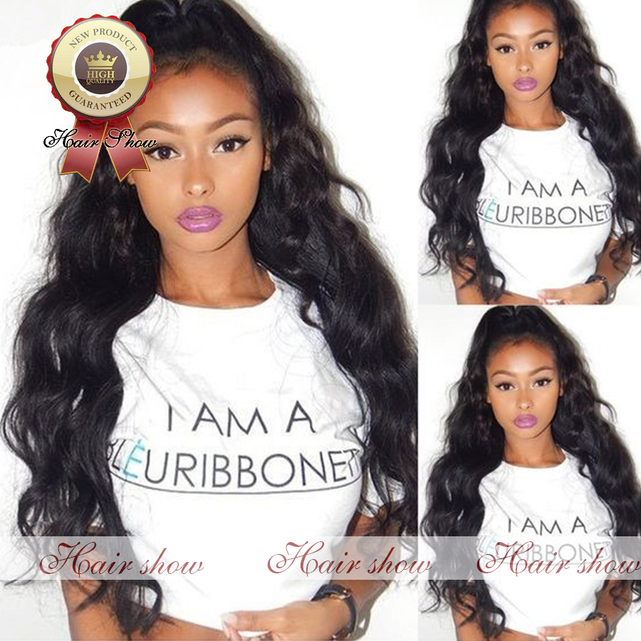 Фотография 7A Grade Best Full 180 Density Virgin BrazilianThick Human Hair Wig Body Wave Full Lace Wig Glueless Human Hair Lace Front Wig