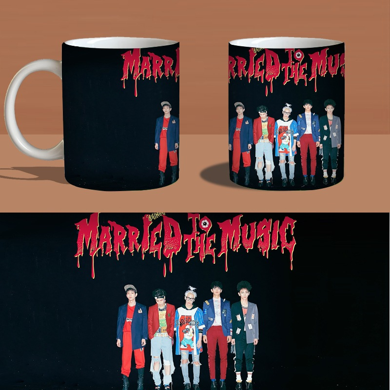 Married To The Music Color Change Mug Print Anime Coffee Cup Man Morning Tea Cups With Gift Box(China (Mainland))