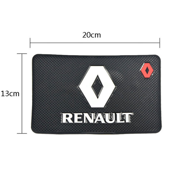 Car-styling mat Interior accessories case for Renault megane 2 3 duster logan clio laguna 2 captur car styling Anti-Slip Mat
