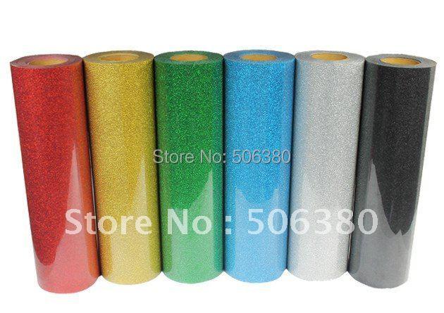 "20""x10ft Iron On Glitter Heat Transfer Vinyl Printing(China (Mainland))"