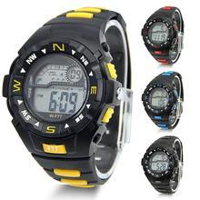 Cool Fashion Men Sports Watch Student Alarm Watch Waterproof LCD Digital Wrist Watch  Army Aviator Wristwatch CMHM352
