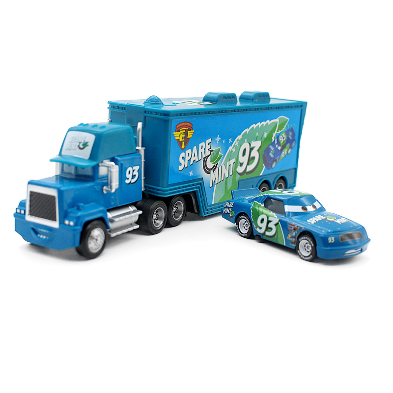 A01-0323 Funny Pixar Cars diecast figure toy Alloy Car Model for kids children Toy race car and Container truck NO.93 2pcs/set(China (Mainland))