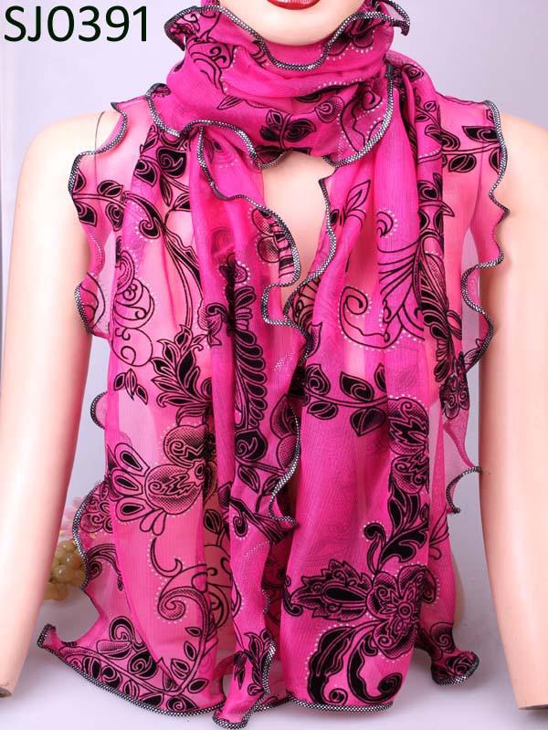 Винтаж теплый более красочные цветок чешские форма шифон шелковый район микрофибры шарфы и обертывания платок для женщин бесплатная доставка