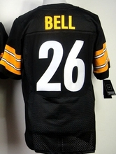 2016 Men Pittsburgh Steelers #84 Antonio Brown #7 Ben Roethlisberger #25 Bruns Elite embroideried black white #26 LeVeon Bell(China (Mainland))