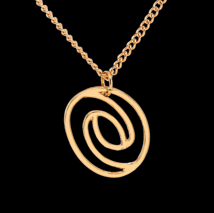 #875 Free Shipping 2015 Winter new original single concentric circle pendant necklace AliExpress