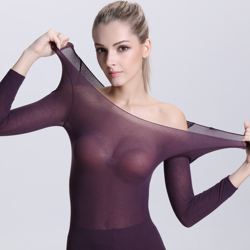new Ultrathin Underwear For Women Suit Long Johns Winter Thermal Underwear Women Cotton Ladies Thermal Tights(China (Mainland))