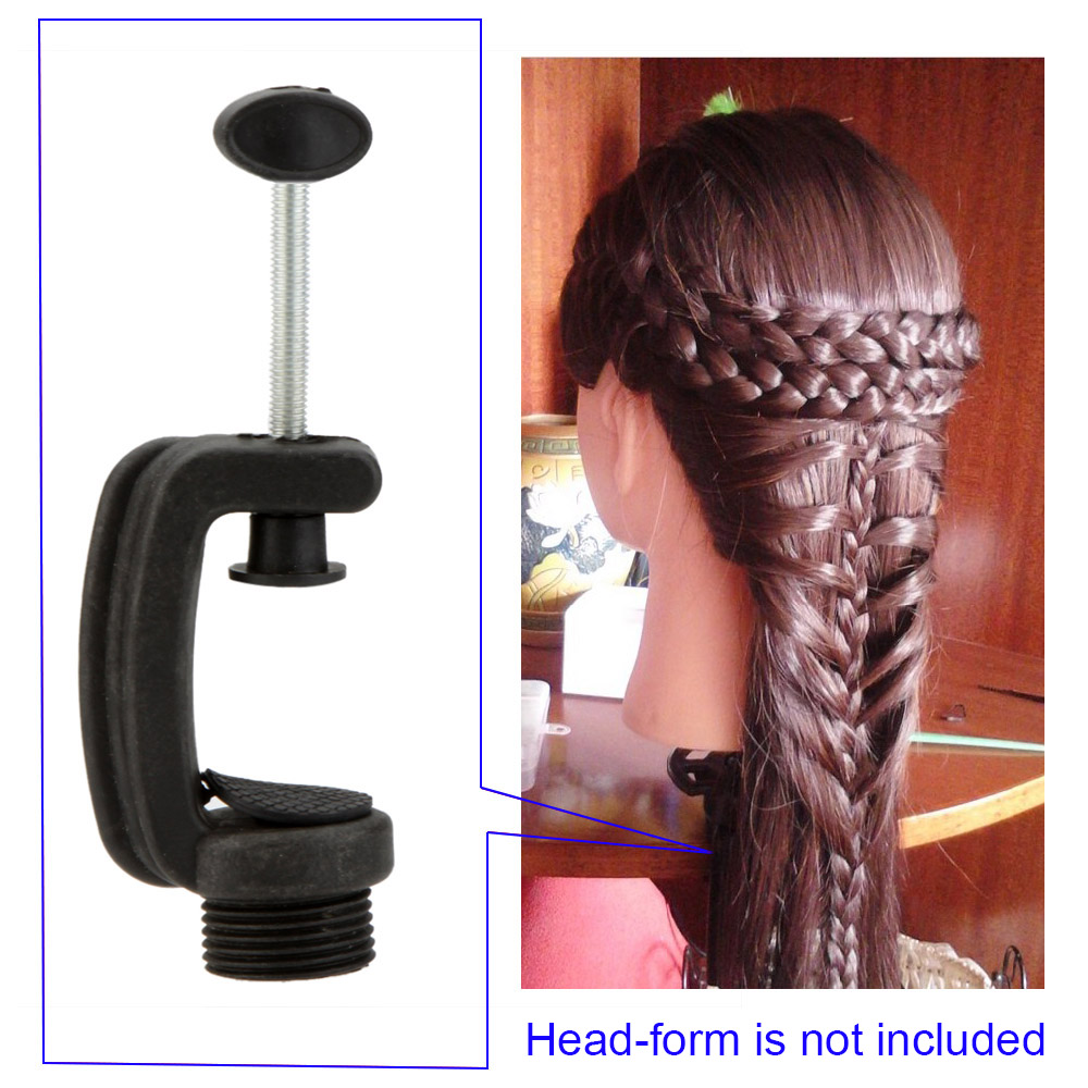 Mannequin Training Head Stand Holder Wig Stand Head Clamp Plastic Metal Hair Extensions Accessory Tool(China (Mainland))