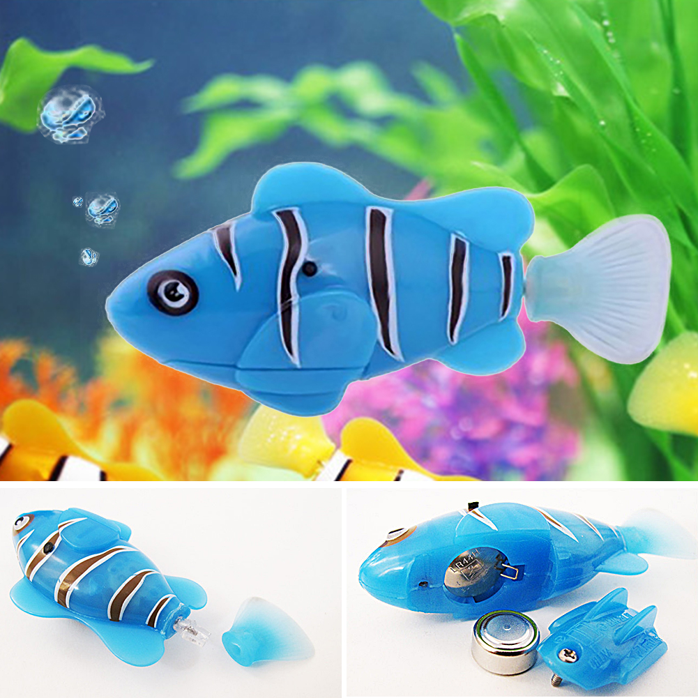 Hot new sale 2016 robofish activated battery powered robo for Piscine fish