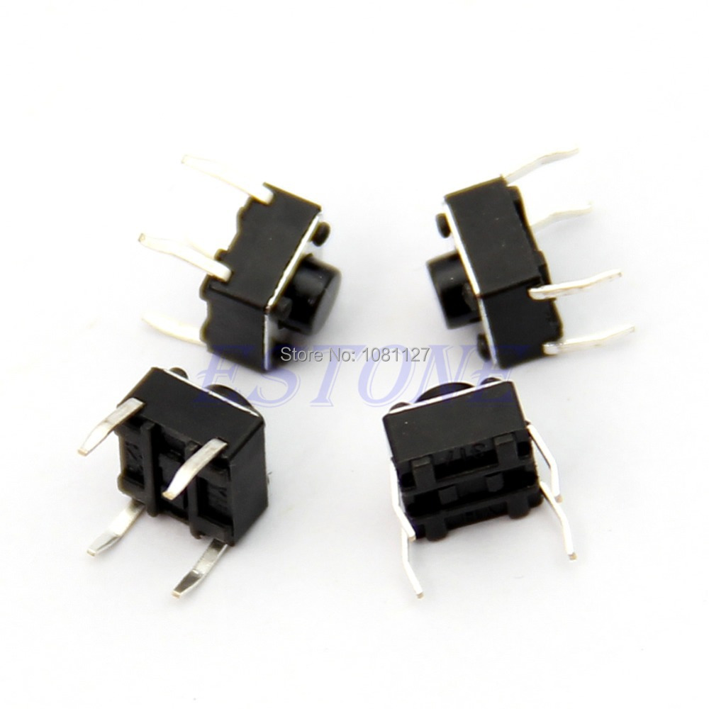 B76 100pcs Tactile Push Button Switch Momentary Tact 6x6x5mm DIP Through Hole 4pin