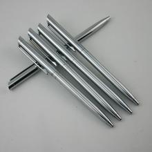 1 шт. / много прямая коммерция вращение шариковая ручка металл ручка нержавеющая сталь шариковая ручка ядро