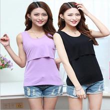 Modal Maternity Breastfeeding Nursing Tops Clothes for Pregnant Women Nursing Clothes Breast Feeding Baby Peeking Nurse Shirts(China (Mainland))
