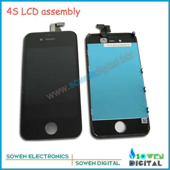 Best Price for iPhone 4s LCD with digitizer touchscreen assembly,Black,12pcs/lot Fast shipping