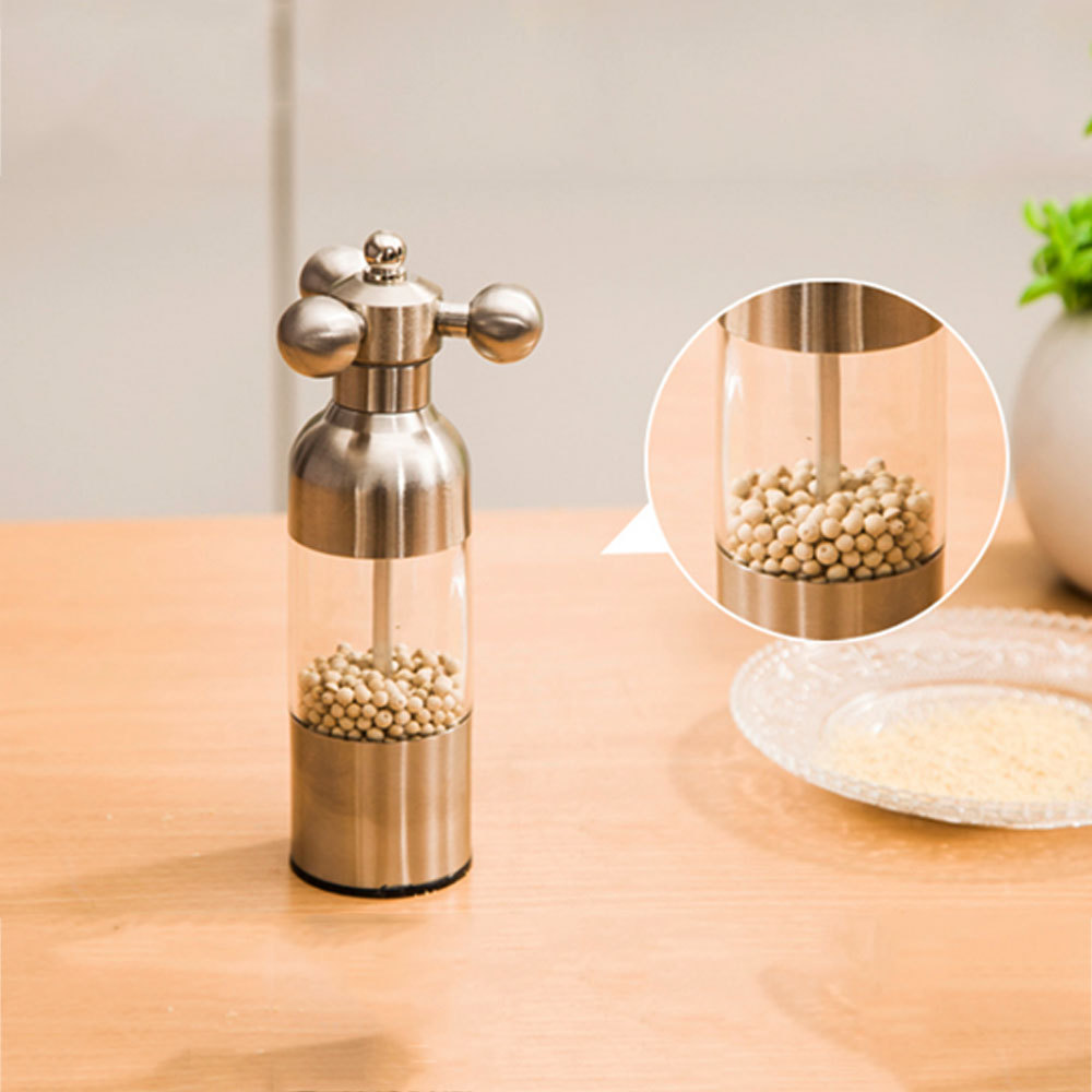 New Arrival Stainless Steel Manual Salt&Pepper Grinder Gourmet Spice Herb Mills Cooking Tools Seasoning Condiment Gadgets(China (Mainland))