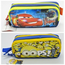 New Despicable Me Minions Autobots Pencil Bags Cartoon Stationary Canvas Pen Box Case For Kids School Supplies Free shipping