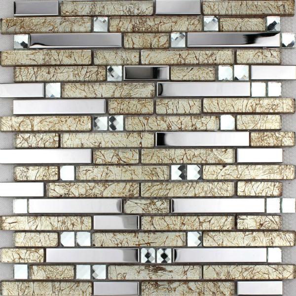 Crystal Glass Tiles Sheets Diamond Mosaic Wall Stickers