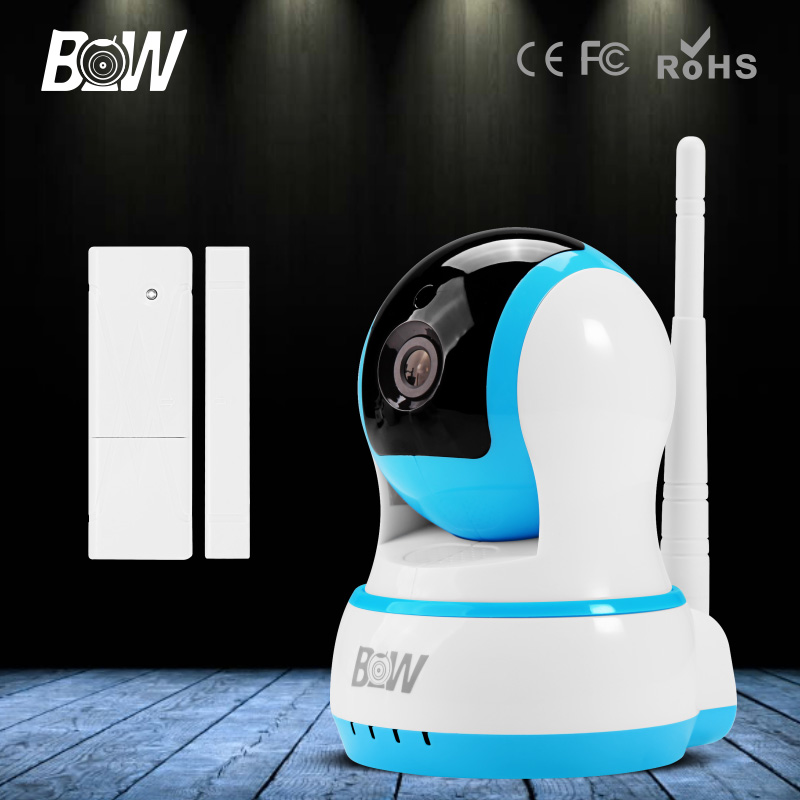 BW Infrared IR Wireless Network CCTV Onvif Indoor IP Camera HD 720P Smart P2P Baby Monitor<br>