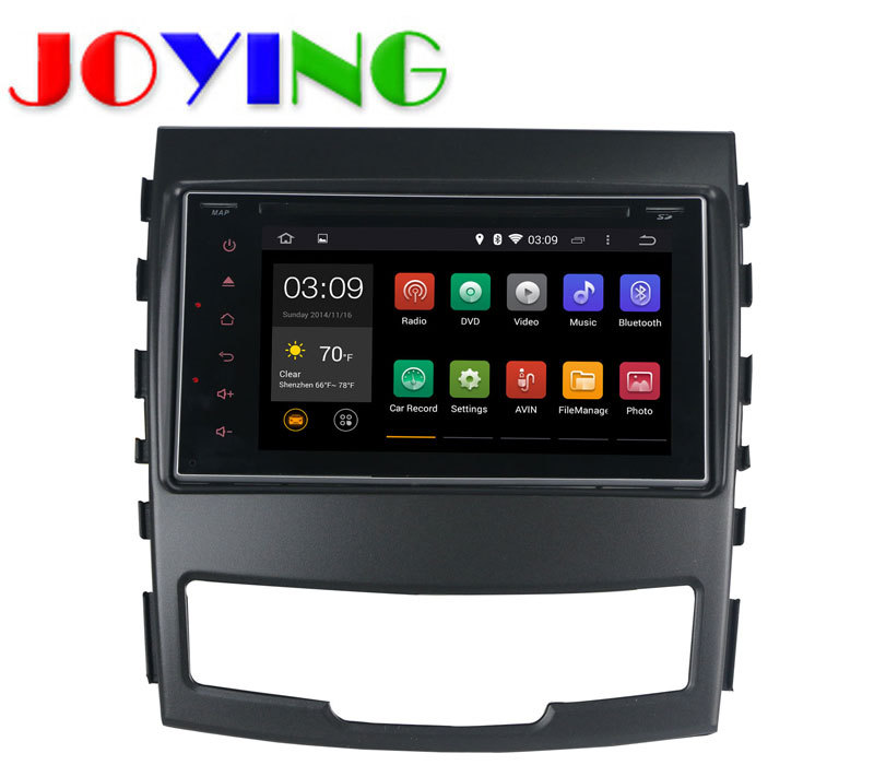 2015 Newest! Quad Core Android 4.4 HD Capacitive Touch Screen Car DVD for SsangYong Actyon Korando 2010-2013 GPS Radio Receiver(China (Mainland))