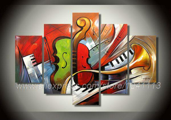Musical instrument theme home wall art cheap selling for Sell abstract art online