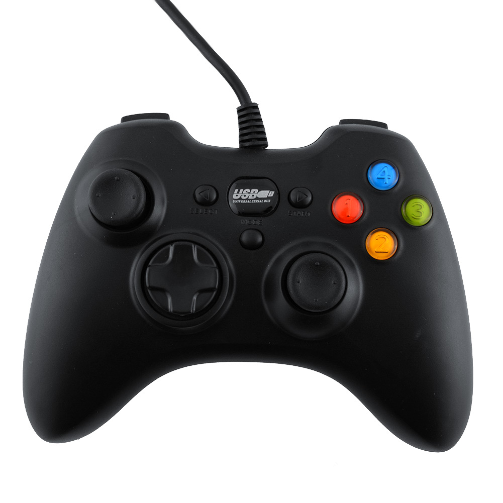 image for 2015 USB Wired Cord Gaming Controller Joystick Computer Laptop Black N