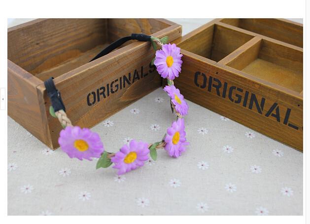 подсолнечника волосы аксессуары полос богемной пляж бикини цветок 60pcs/много