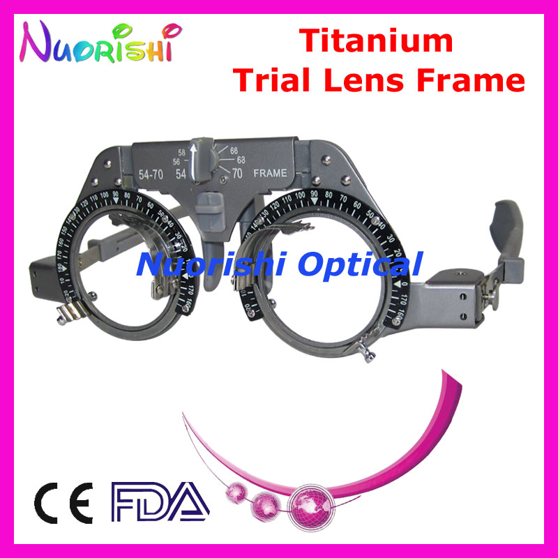 xd02 titanium optical optometry ophthalmic trial lens frame light weight lowest shipping costs