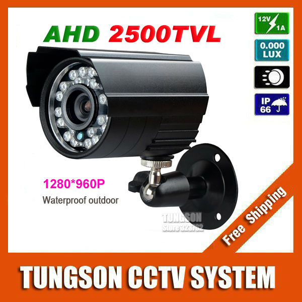 New Product 1280*960P HD CCTV Camera 2500TVL Security Monitoring Outdoor Waterproof Mini Bullet 1.40 MP AHD Video Surveillance(China (Mainland))