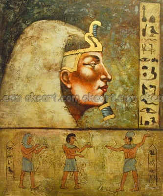 oil paintings on canvas free shipping egyptian
