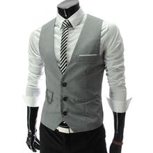 New 2015 Suit Vest font b Men b font Plus Size 4XL Hot Brand Waistcoat Male