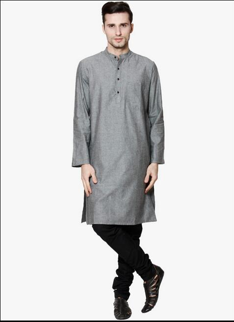 Men's Shirts Indian clothing Leisure national wind jacket Loose cotton long shirt(China (Mainland))